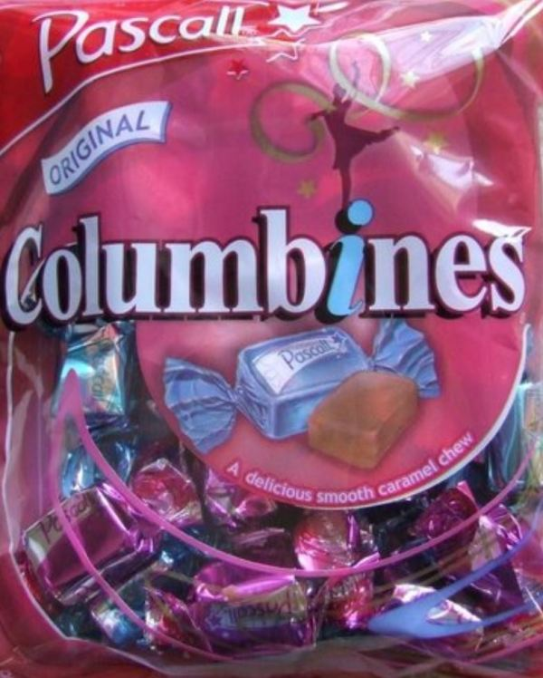 Columbine caramels