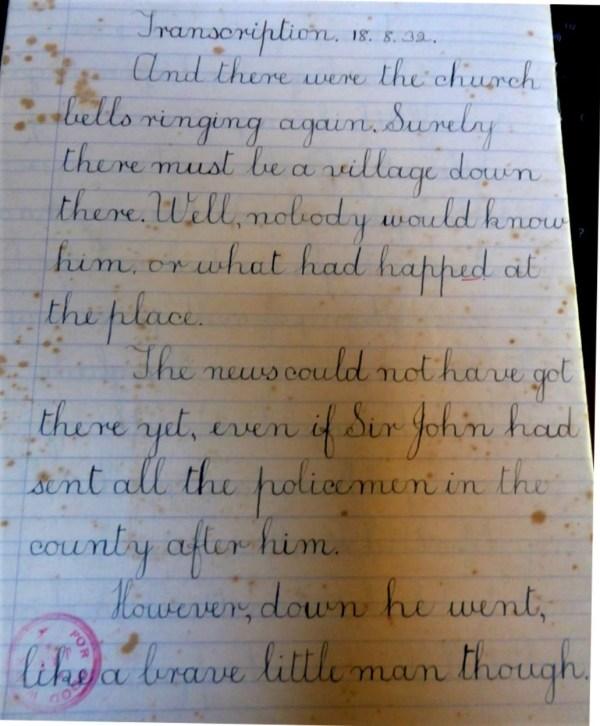 Laurie's Copy book , Tasmania 1930s