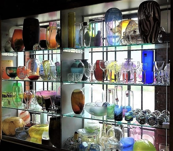 Keith Rowe's hand blown glass at Blackheath