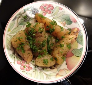 Boiled Potato Orchid tubers.