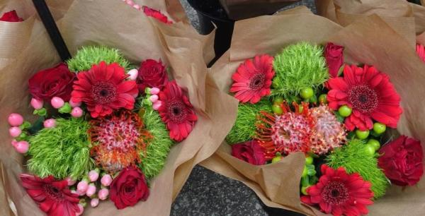 Festive bouquets from Blackheath Christmas Market