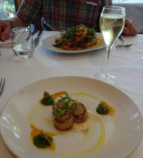 Scallops, the perfect entree