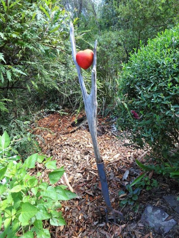 Garden art for Valentine's Day