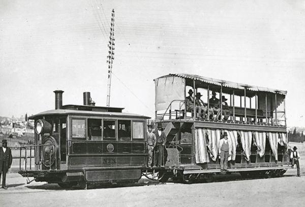 Sydney's Exhibiton steam tram.