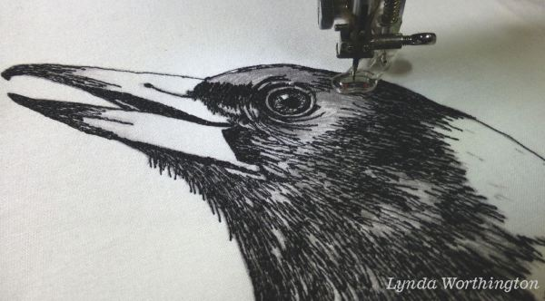 Magpie embroidery