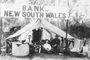 Bank on the Wyalong goldfields