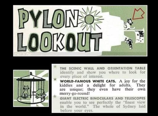 Sydney Harbour Bridge Pylon Lookout  Brochure featuring the cats.