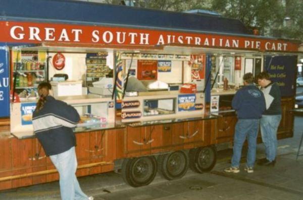 Pie Cart in Adelaide.