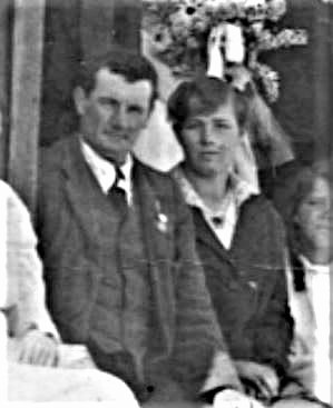 Arthur Singleton and his wife Lizzie in 1918.