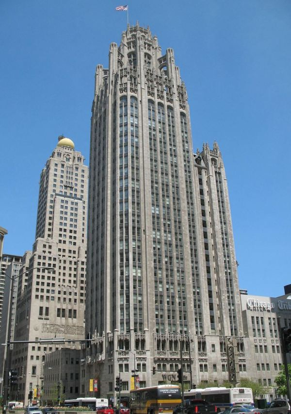 Tribune Building in Chicago influenced Sydney's Grace  Hotel.