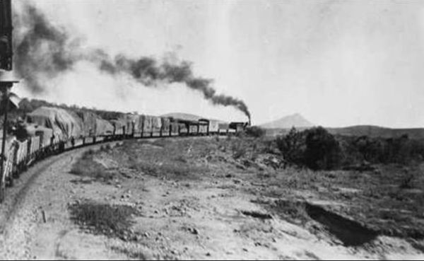 The Ghan in the days of steam