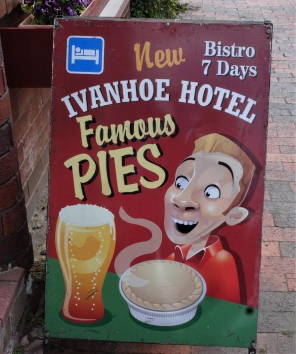 Pie and a beer.