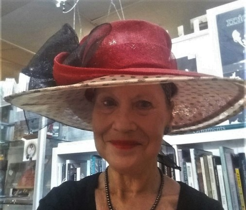 Pauline Conolly wearing Vntage Hat at the Victory Antiques Centre