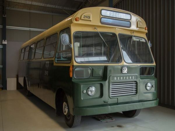 Green Coach Line buses  are now museum exhibits.