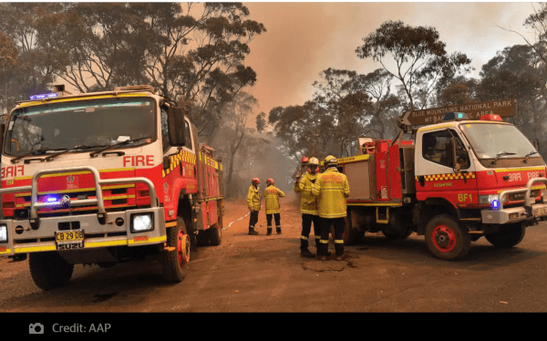 Rural Fire Brigade, angels during the Christmas crisis.