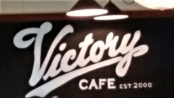 The Victory Cafe, venue for a thank you to firefighters.
