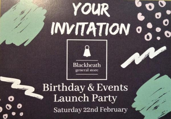 Invitation to the celebrations at the Blackheath General Store Cafe.
