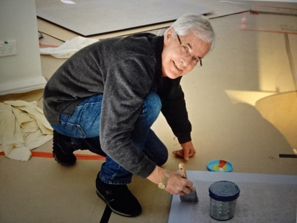 Bob working on the interior,