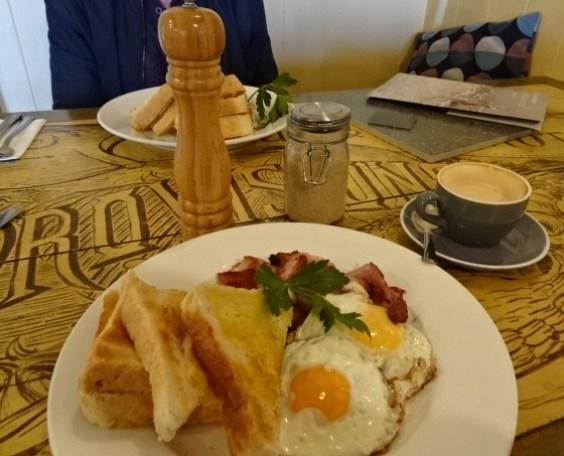 Old fashioned breakfast.