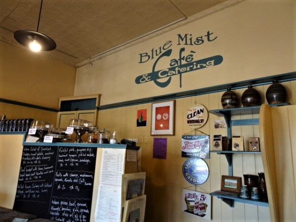 The Blue Mist Cafe.