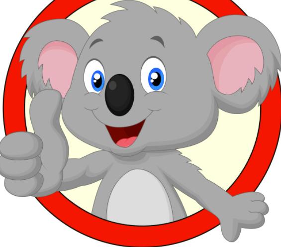 Thumbs up little koala.