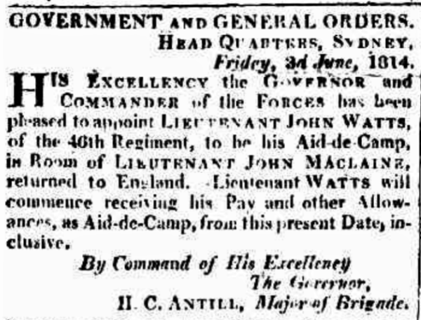 Notice of appointment of John Cliffe Watts.