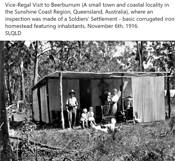 One of the Soldier Settlement farms in Queensland.