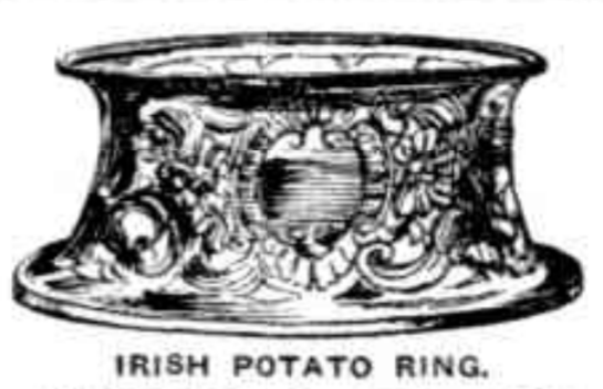 Silver potato ring, once held in the Technological Museum.