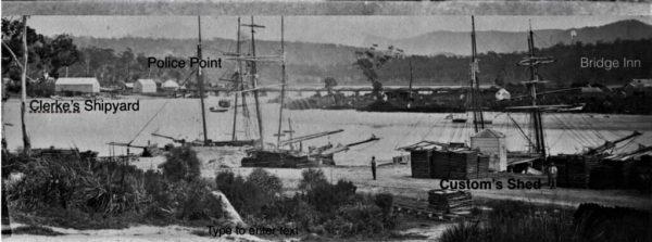 The Leven River  wharf circa 1875