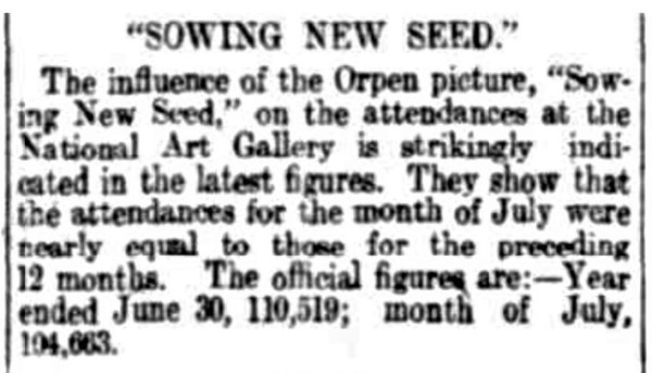 Sowing New Seed drew big crowds to the Adelaide Art Gallery.