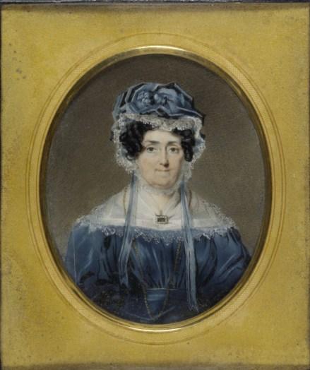 Miniature portrait of Anna King,