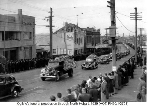 Funeral procession for Premier Albert Ogilvie.
