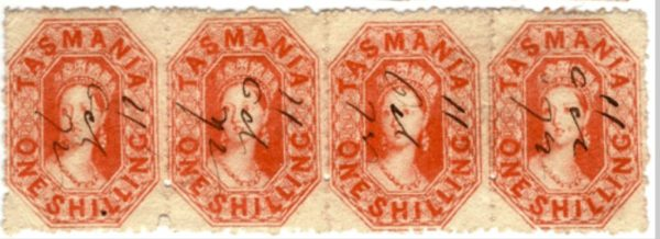Stamps  privately  perforated by country postmasters in Tasmania.