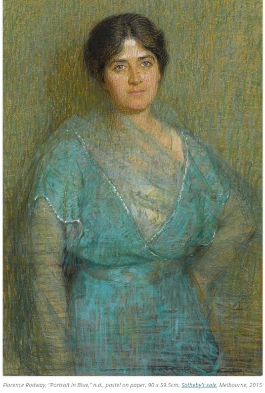 Portrait in Blue, by Florence Rodway.
