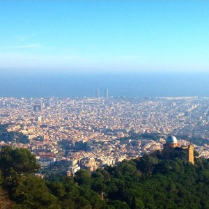 In the meantime, here's the view of Barcelona I saw today from Tibidabo, the mountain which overlooks the city.
