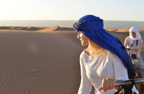 Somewhere in the Sahara, watching the sunset.