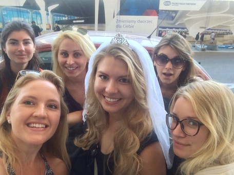 Off to Kraków with a few of the bridesmaids and the beautiful bride!