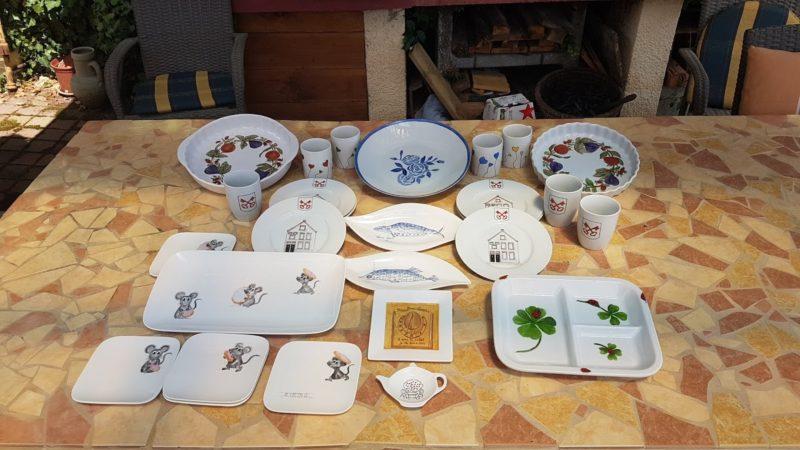 Overzicht van handbeschilderde borden