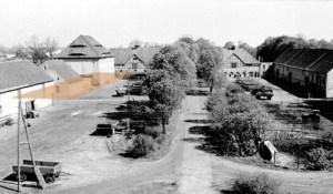 Der Standort von Bardelebens Meierei (farbiges Rechteck).