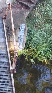 Der Kanal mit einem Wasserstand von 1,70m.