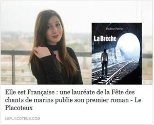 Article de presse Pauline Perrier