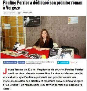 Pauline Perrier Midi Libre