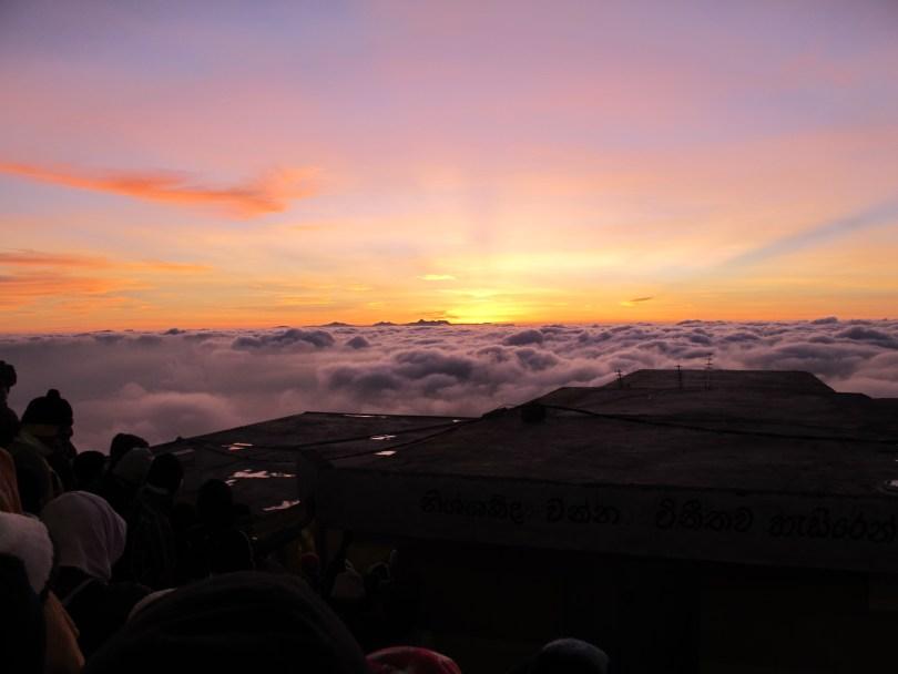 Adam's Peak Climb right before sunrise