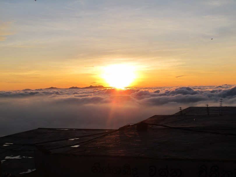 Adam's Peak Climb with the sunrise making a new day