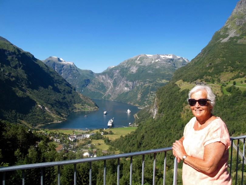 My lovely grandma in Geirangerfjord