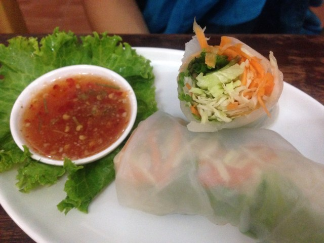 things to do in Koh Tao is eating spring rolls