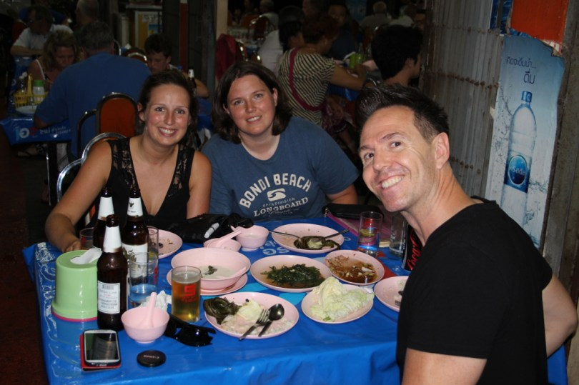 Eating local 8 of the 10 Highlights from Bangkok City her with our friend that has been living 15 years in Bangkok