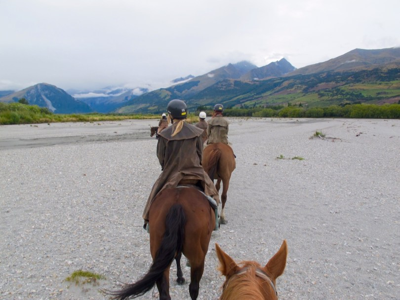 Horseback riding in Queenstown with PaulineTravels the girl taking picture