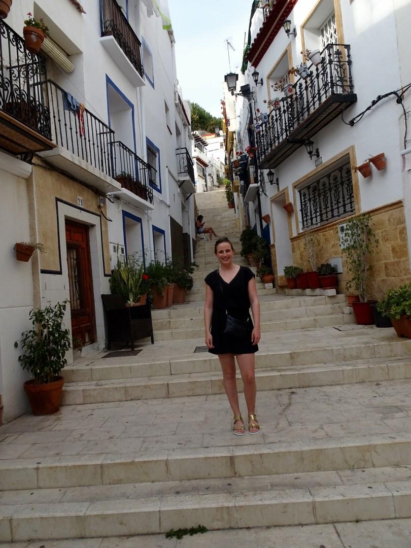 Caminando en Barrio Viejo en Alicante
