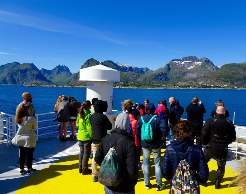 Ferry from Bodø to Moskenes in Lofoten. Northern Norway.